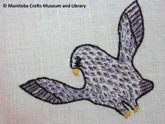 Detail: Embroidered eagle (wings spread) in corner, red scalloped edges. Eagle Wings, Scalloped Edge, Corner, Kids Rugs, Embroidery, Detail, Red, Home Decor, Needlepoint