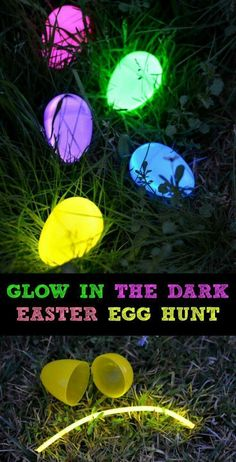 Glow in the dark Easter egg hunt! #Professionaldecorationideas