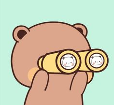 Cute Cartoon Images, Cute Images, Cute Couple Wallpaper, Cute Love Gif, Little Panda, Cute Photography, Line Sticker, Love Pictures, Cute Stickers