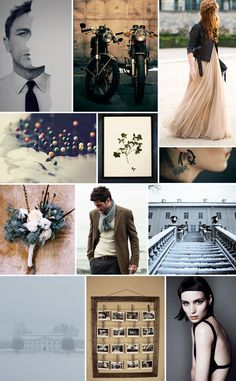 Girl With The Dragon Tattoo inspiration board -WOOT WOOT!  From greenweddingshoes.com