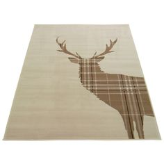 Homemaker Natural Stag Rug | Rugs & Runners | ASDA direct