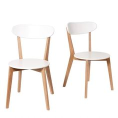 Lot de 2 chaises design scandinave Vitak 129€