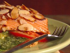 Salmon with Puff Pastry and Pesto from CookingChannelTV.com
