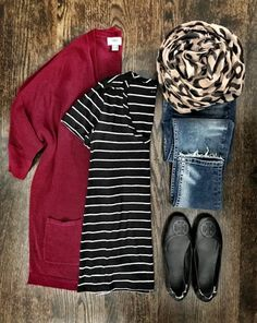 Cardigans, stripes and of course leopard make for my favorite Fall outfit ❤️ you can get 20% off the cardigan with code SWEET! All details through my profile link or with @liketoknow.it [ http://liketk.it/2sFHI ] #liketkit #ltksalealert #outfitflatlay