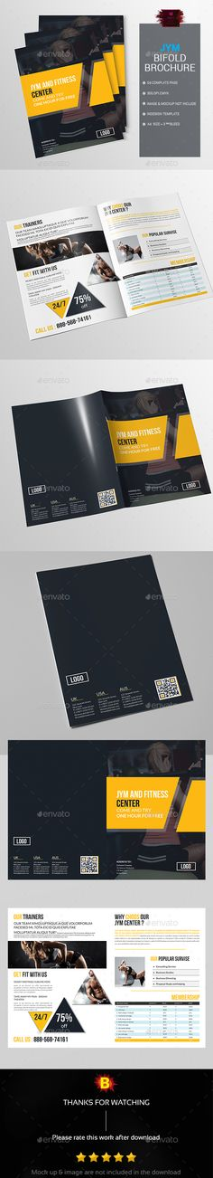 Bifold Brochure for Gym Gym Brochure Pinterest - Fitness Brochure Template