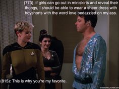 """Texts from Star Trek: The Next Generation  ... a new fan of TNG had a brilliant thought: what if I combined """"texts from last night"""" with screenshots of TNG?  And a new way to win the internet was born."""