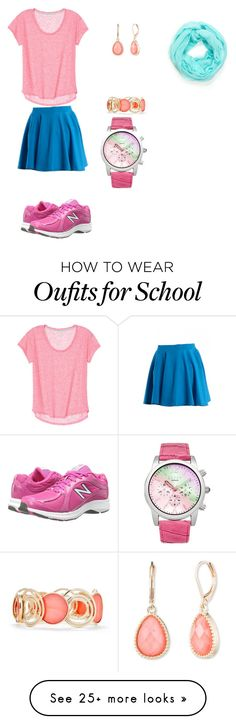 """Traditional school style "" by mafias-arthtur on Polyvore featuring New Balance, Vintage America, New Directions and Lipsy"