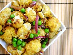 Curry Roasted Cauliflower - my onions got a little crispy... next time I'll watch them more closely at the end. But the flavors are great and unique!
