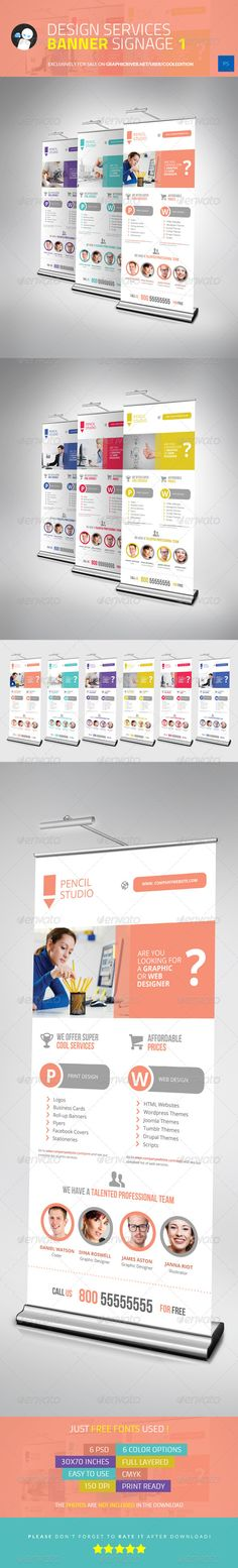 Buy Design Services Banner Signage 1 by cooledition on GraphicRiver. Design Services Banner Signage 1 Suitable for: Signage Design, Ad Design, Layout Design, Creative Banners, Creative Design, Rollup Display, Standing Banner Design, Standee Design, Pop Up Banner