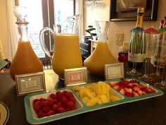 Good ideas for brunch (mimosa bar):
