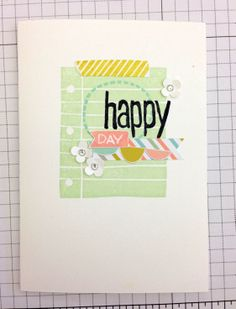 Close up of the first card I made with my little stamp set featuring that adorable notebook paper stamp.