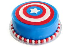 Marvel Superheroes - Captain America Cake - Visit to grab an amazing super hero shirt now on sale!