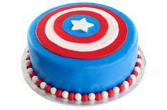 Marvel Superheroes - Captain America Cake