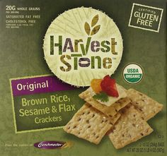 Harvest Stone Original Brown Rice, Sesame & Flax Crackers TWO BAGS! #HarvestStone