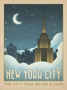 This dreamy New York skyline celebrates the City That Never Sleeps. Printed on gallery-grade paper with soothing blue tones, this lovely poster is sure to bring a sense of Big Apple style to any home or office wall.
