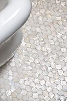 mother of pearl tile floor