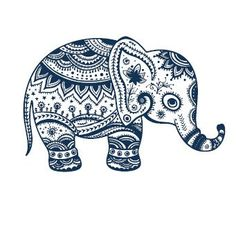 Set of 2 Waterproof Temporary Fake Tattoo Stickers Vintage Blue Elephant Design >>> Check out the image by visiting the link. (This is an affiliate link) #TemporaryTattoos