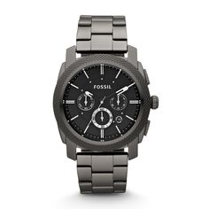 Machine Chronograph Stainless Steel Watch - Smoke FS4662 | FOSSIL®