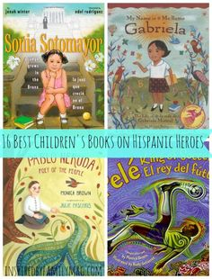 16 Best Latino Children's Books on Hispanic Heroes 16 Best Latino Children's Books on Hispanic Heroes - I love this list! New books listed and some oldies like Celia Cruz and. Best Children Books, Books For Teens, Childrens Books, Good Books, New Books, Learn Spanish Online, Hispanic Heritage Month, Elementary Spanish, Library Programs