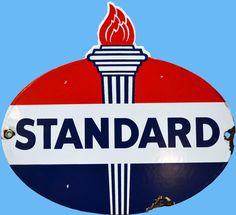 Vintage Mobil oil logo | Standard Oil - Visable Gas Pump Cir. 1900 - SGP861
