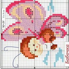 Cross Stitching, Cross Stitch Embroidery, Cross Stitch Patterns, Rugrats, C2c, Perler Beads, Butterflies, Kids Rugs, Birds