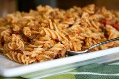 Cheesy Taco Pasta - an easy 7 ingredient dinner.