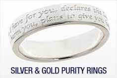 gold purity rings for girls - Google Search