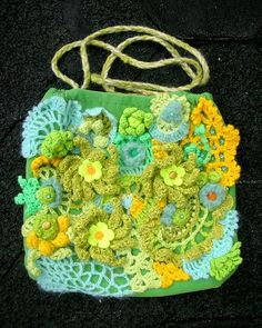 Set of freeform crochet scarves. Freeform Crochet, Crochet Motif, Knit Crochet, Love Crochet, Irish Crochet, Loom Patterns, Crochet Patterns, Crochet Shoulder Bags, Art Yarn
