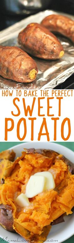 love this method, always use it! How to Bake a Perfect Sweet Potato in the Oven love this method, always use it! How to Bake a Perfect Sweet Potato in the Oven Baked Sweet Potato Oven, Cooking Sweet Potatoes, Sweet Potato Recipes, Oven Baked, Vegetable Dishes, Vegetable Recipes, Vegetarian Recipes, Cooking Recipes, Cooking Ideas