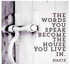 Word you speak quote