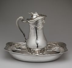 Ewer and basin, 1745–46 Marc Bazille (French, 1706–1777) French; Montpellier Silver. Exquisite silver pieces such as this would be found in the Hotel Roxton (NOBLE SATYR & MIDNIGHT MARRIAGE)