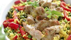 Alt i en form - Sunn - Oppskrifter - MatPrat Pork Recipes, Cooking Recipes, Norwegian Food, Fried Pork, Pork Loin, Sheet Pan, Baked Goods, Potato Salad, Fries