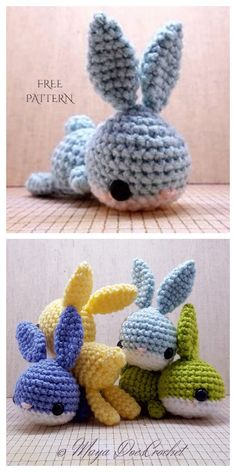 to make Crochet toys Easter Amigurumi Lazy Bunny Free Crochet Patterns - DIY Magazine Crochet Easter, Easter Crochet Patterns, Crochet Bunny Pattern, Cute Crochet, Crochet Crafts, Crochet Toys, Knit Crochet, Knitted Dolls, Crochet Animals
