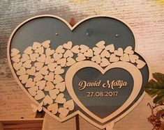Jubilee Frame Drop box Wedding Guestbook alternative Personalized guest book Sign in wood hearts Dropbox wedding Gift idea Signin Drop top Thermocol Craft, Wooden Easel, Writing Instruments, Wedding Guest Book, Personalized Wedding, Christening, Wedding Details, Unique Gifts, Messages