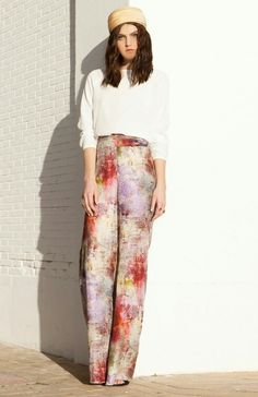 Print palazzo pants the perfect wedding guest