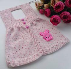 Baby Knitting Patterns, Free Knitting, Angora, Designs For Dresses, Baby Cardigan, Girls Sweaters, Kind Mode, Knitting Needles, Corsage
