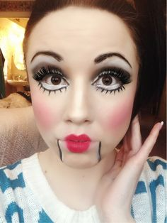 Ventriloquist doll makeup, facebook/hessbeautyexpress