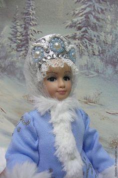 Купить Снегурочка - кукла, кукла в подарок, снегурочка, Новый Год, фарфоровая кукла, зима, текстиль