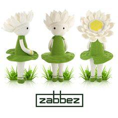 Crochet pattern amigurumi doll Water Lily Winnie PDF by Zabbez