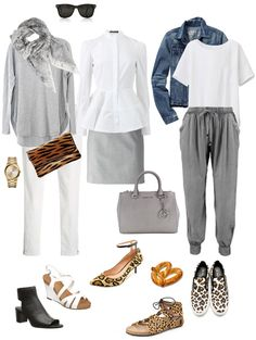 Ensemble Style Advice - White, Light Grey & Animal Print