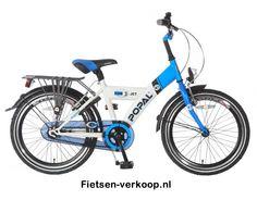 Jongensfiets Fun jet Blauw - Wit 20 Inch | bestel gemakkelijk online op Fietsen-verkoop.nl