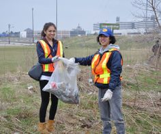 Centennial College helped out at the Environmental Student Society's annual Spring Clean-up and Rehabilitation Day and almost 2 tonnes of trash was picked up. The day closed out Earth Week activities around the city and the province. Student Society, Centennial College, Spring Clean Up, Cleaning Challenge, Local History, Go Green, Vintage Photography, Pick Up, Environment