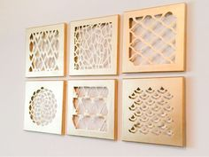 Super easy DIY for home decor. Gold canvas cut-outs... Yes PLEASE!!