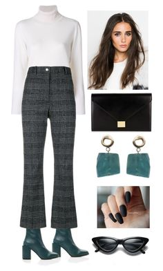 """""""Officewear"""" by cheresh ❤ liked on Polyvore featuring FABIANA FILIPPI, Wood Wood and Victoria Beckham"""