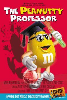 M's - CINEMA POSTERS - Yellow- The Peanutty Professor