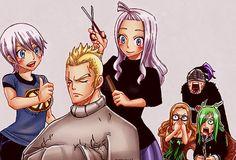 Laxus, Mirajane, Lisanna and the Thunder Tribe