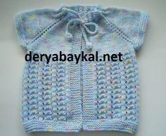 Boyundan Başlamalı Bebek Yeleği Yapilişi Easy Knitting Patterns, Baby Patterns, Free Knitting, Baby Knitting, Crochet For Kids, Diy Crochet, Crochet Baby, Baby Girl Jackets, Baby Vest