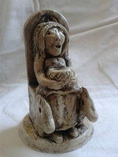 Epona Statue /Celtic Statue / Altar Statue / Celtic goddess of horses / Handmade Ceramic /Hand painted