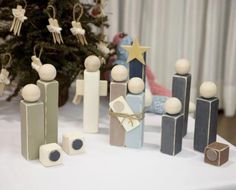 wood block nativity set, I really love the simplicity!