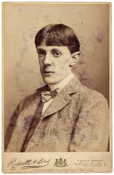 The man in Art Nouveau book illustration - if you like a dash of decadence:  Aubrey Beardsley (Aug. 21, 1872 - 1898, tuberculosis)…  Photo by James Russell & Sons, circa 1890